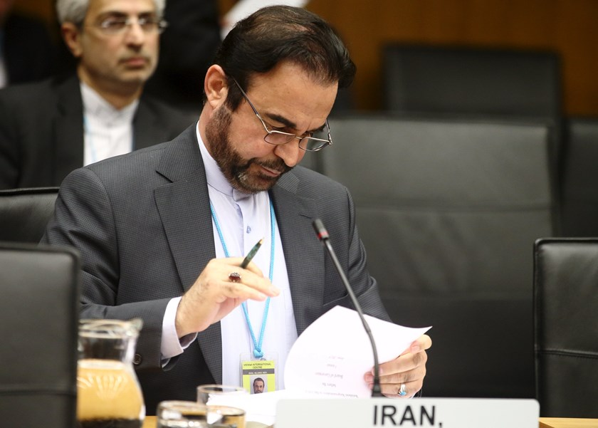 Iran's ambassador to the International Atomic Energy Agency (IAEA) Reza Najafi waits for the start of a board of governors meeting at the IAEA headquarters in Vienna, Austria, June 10, 2015. Photo: Reuters