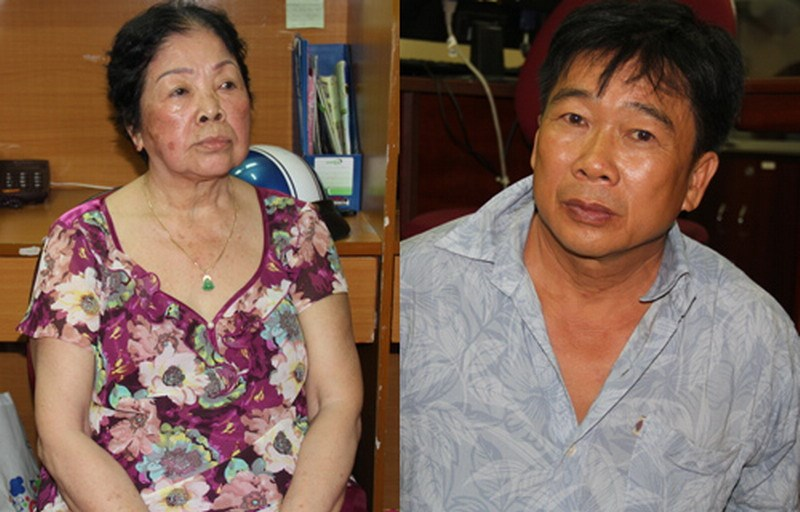 Nguyen Thi Miet (L) and Ngo Van Thanh are suspects in a drug dealing case that involves nearly 4 kilograms of heroin. Photo credit: Vnepress.