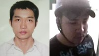 Tran Quoc Huy (L) and Nguyen Van Dai were arrested by the police on Wednesday night for kidnapping a woman.
