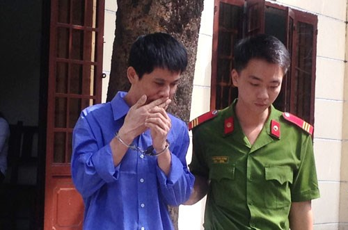 Phui Cam Senh, 39, was sentenced to 1 year imprisonment for posting a nude picture of his ex-girlfriend on Facebook. Photo: Huong Giang