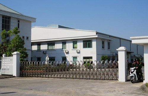 A view of the office of Huge Gain Holdings Co.Ltd in Do Son Industrial Zone, Hai Phong, where police found 300,000 copies of porno films on Wednesday. Photo: CTV
