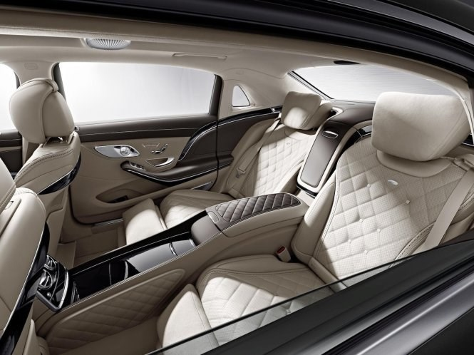 A view from inside of a Maybach S600, which will be released globally in February. Photo credit: Bloomberg