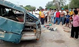 Tourist bus from Vietnam collides with van in Cambodia, kills 21 workers