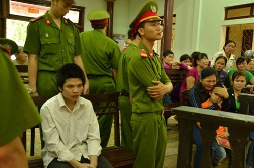 Pham Xuan Lanh waits for his verdict. Photo: Tam Ngoc
