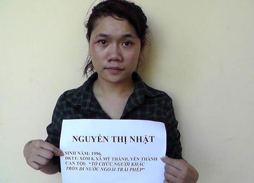 Police have arrested Nguyen Thi Nhat for running the trafficking ring. Photo courtesy the police