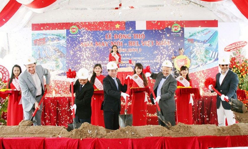 Bel Vietnam breaks ground on its second factory in the southern province of Binh Duong on Wednesday.