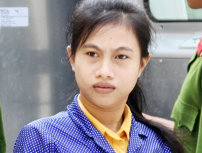 Tran Thi Dieu Hien, 25, at a court in Soc Trang province on Monday. Photo credit: Tuoi Tre