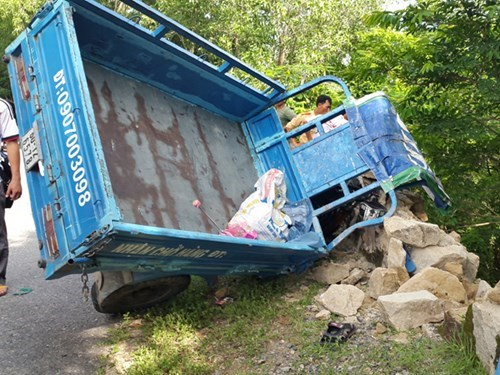 The accident scene in Ba Ria- Vung Tau Province. Photo: Nguyen Long