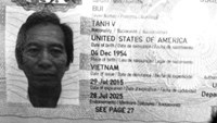 A passport of Vietnamese-American man Bui Van Tanh, who is arrested in Vietnam for his hijacking crime 34 years ago.