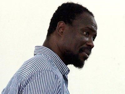 South African man Mbouwe Ebubu, 41, during a court in Ho Chi Minh City on Thursday. Photo credit: VnExpress.