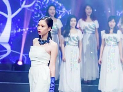 Nguyen Thi Quynh Nga during a fashion show in Hanoi. Photo credit: VnExpress