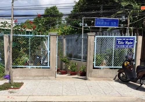 A photo taken in front of Kieu Ngan Nursery. Photo credit: Dan Tri.