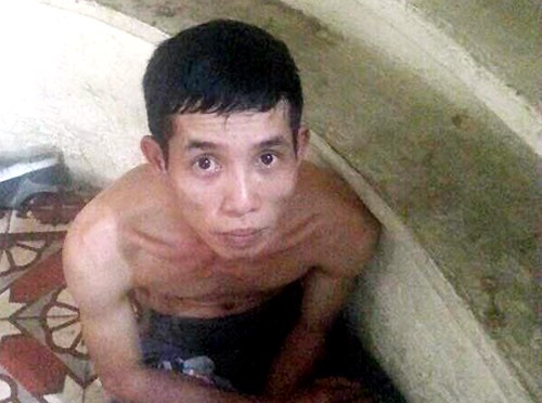 Duong Thien Tinh, 29, has been arrested for snatching a handbag from a Malaysian couple. Photo provided by the police