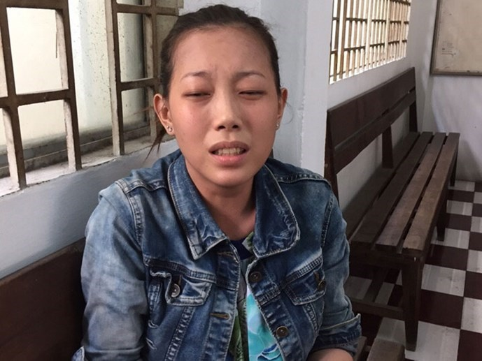 Phan Thi Ngoc Diem, 25, at a police station in Ho Chi Minh City on October 26, 2015. Photo: Dam Huy