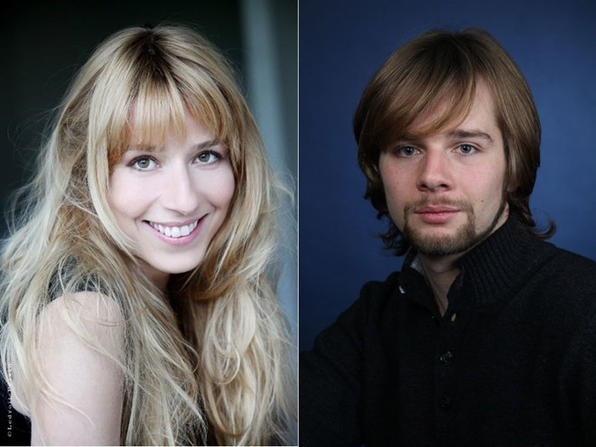 French singers Sophie Leleu (L) and Olivier Trommenschlager. File photos.