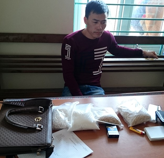 Vu Van Tuan at a police station in Quang Ninh Province. Photo provided by the police
