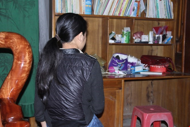 A school girl in Thanh Hoa Province says that she has been raped twice by a teacher at her school. Photo: Hai Tan