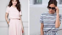 Model and fashion store owner Ngoc Trinh admits she has copied a design from Victoria Beckham's summer collection. File photos