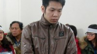 Pham Xuan Truong, 26, stands trial on Friday for killing a police officer after a traffic collision in 2014. Photo: Nam Anh