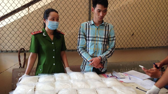 Do Thai Dung, 25, at a police station in Ho Chi Minh City on January 9. Photo: C.T.V