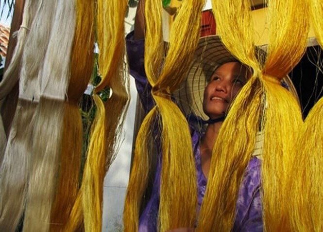 A silk workshop in Hoi An. File photo