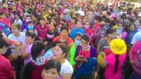 Around 17,000 workers of Pouchen company in Dong Nai Province go on strike on Thursday. Photo: Le Lam
