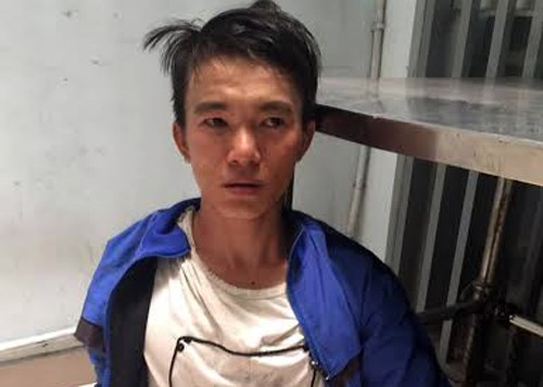 Dang Trieu Phu, 23, seized at a police station in District 1, Ho Chi Minh City on March 1, 2016. Photo credit: VnExpress