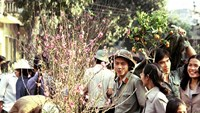 Hanoi in spring. It's among the 50 photos taken between 1981 and 1988 by former AFP correspondent Michael Blanchard which will be put on display in Hanoi next month