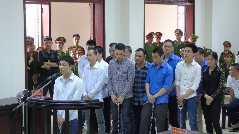22 people stands trial in Quang Ninh Province on April 29, 2016. Photo: Vu Ngoc Khanh