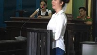 Huynh Lan Thao, 43, stands trial in Ho Chi Minh City on May 9, 2016. Photo: Ngoc Le/Thanh Nien