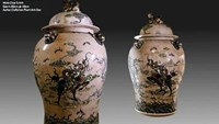 A file photo of a pair of handmade jars which was auctioned in May.