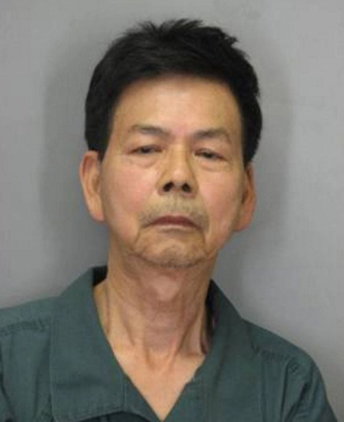 Hiep Van Le, 67, seized by US police on Wednesday for killing his daughter and her husband.