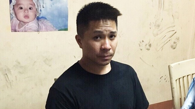 Vietnamese-American Cao Dinh Khoi, 38, at a police station on June 11, 2016. Photo: CTV