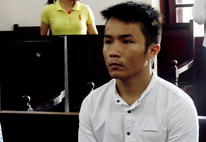 Phan Huynh Anh Khoa, 23, during a court in Ho Chi Minh City on June 21, 2016. Photo credit: Tuoi Tre