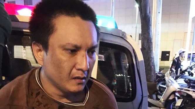 Tran Hao Nhan is accused of bag snatching in Ho Chi Minh City downtown