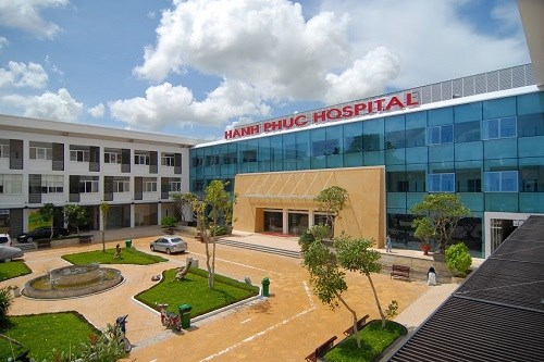 "Hanh Phuc Hospital in An Giang Province, where a 60-year-old man was diagnosed ""pregnant"". File photo."