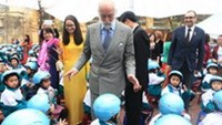 Prince Michael of Kent presents Road Safety Award in Vietnam