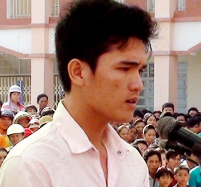 Le Van Nghiem, a worker at the Chan Viet Joint Stock Company, was sentenced to three years in jail for involving in the May 13 riot in Binh Duong. Photo credit: VnExpress