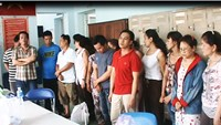 The arrestees suspected of involving in a major illegal gambling ring in Ho Chi Minh City masterminded by Nguyen Ngoc Thang. Photo: CTV