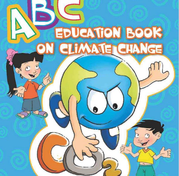 A cartoon book on climate change developed by Center Live&Learn for Environment and Community. Photo credit: Live&Learn