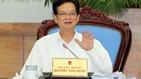 Prime Minister Nguyen Tan Dung speaks at the central government's meeting in Hanoi on July 1. Photo credit: VNA