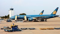 Vietnam Airlines on July 1 launched a new route that links Hanoi's Noi Bai Airport and Tokyo's Haneda Airport. Photo: Dao Ngoc Thach