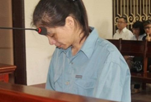 Do Thi Thu Thuy was sentenced to life for stealing money from PG Bank's Hai Phong Branch where she was head of its cash branch. Photo credit: VietNamNet