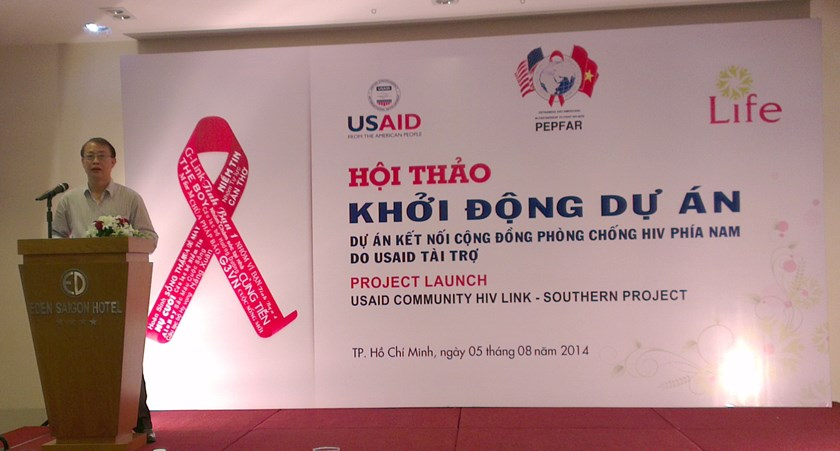 The Center for Promotion of Quality of Life  will deliver community-based HIV/AIDS services to 4,000 high risk people and 2,000 people living with HIV in Vietnam under a project funded by the US President's Emergency Plan for AIDS Relief. Photo: Minh Hung