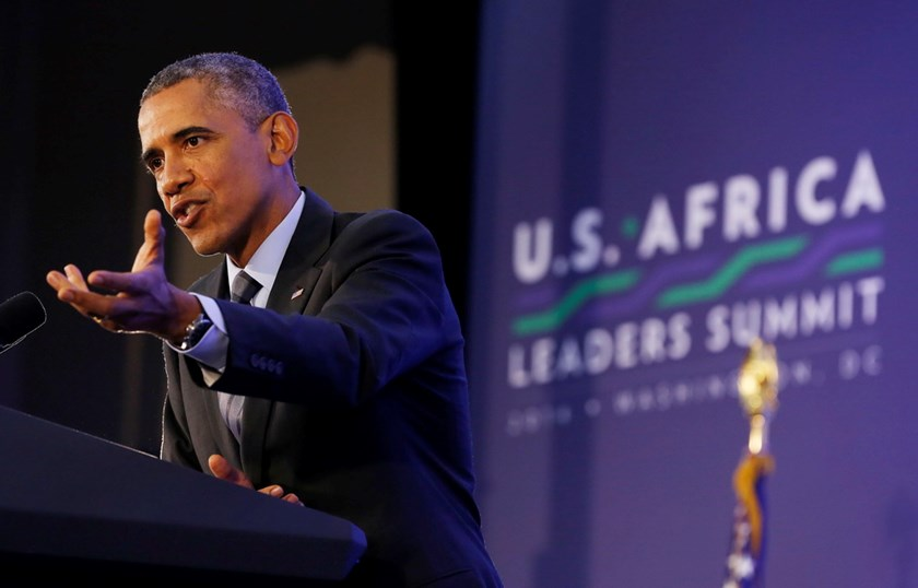 U.S. President Barack Obama holds a news conference at the conclusion of the the U.S.-Africa Leaders Summit at the State Department in Washington, August 6. Photo credit: Reuters