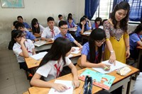 Students at the Nguyen Van Luong Secondary School in Ho Chi Minh City's District 6. Photo: Dao Ngoc Thach