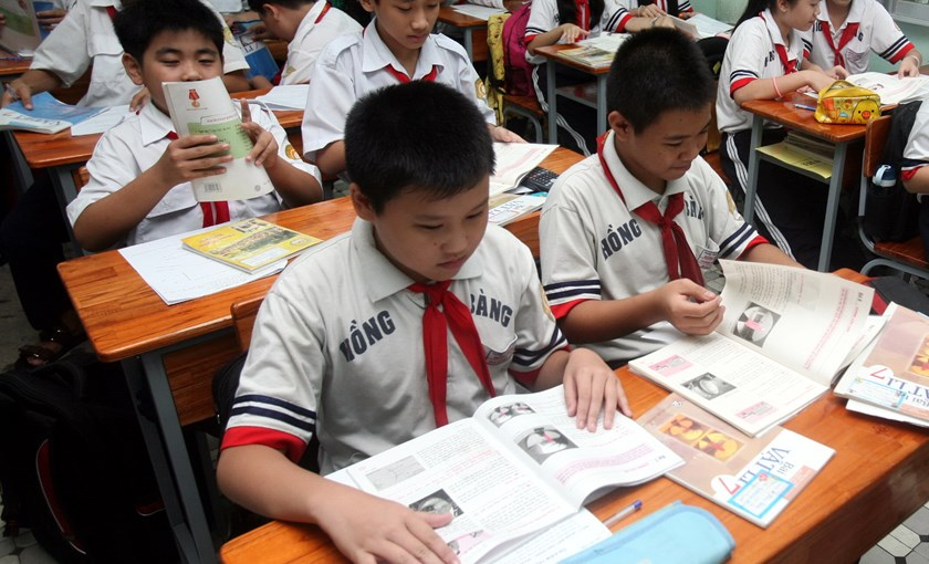 Students at a school in Ho Chi Minh City's District 5. Photo: Dao Ngoc Thach