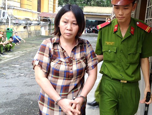 Nguyen Thi Ngoc Huong, 39, was sentenced to 12 years in jail for child smuggling. Photo credit: VnExpress