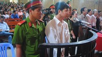 Nguyen Minh Tien stands trial on Tuesday. Photo: Thanh Dung