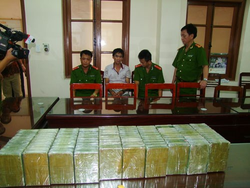 Drug seized by Thai Nguyen police on Friday. Photo: Trung Do